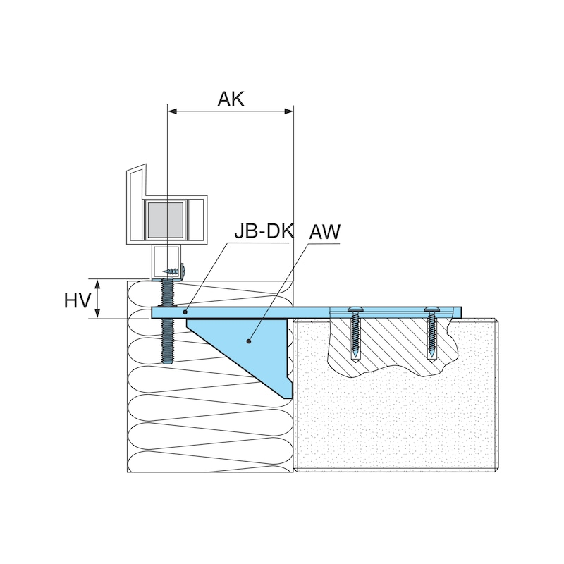 Window installation bracket with height adjustment plate JB-DK - 2