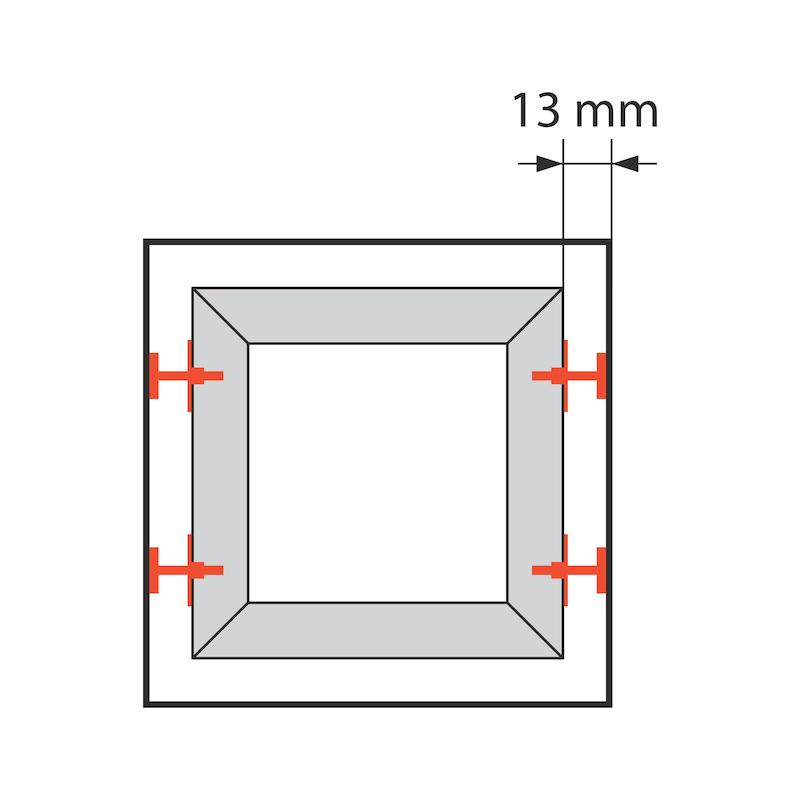Fenstermontageschiene mit Anschraubplatte JB-D - 2