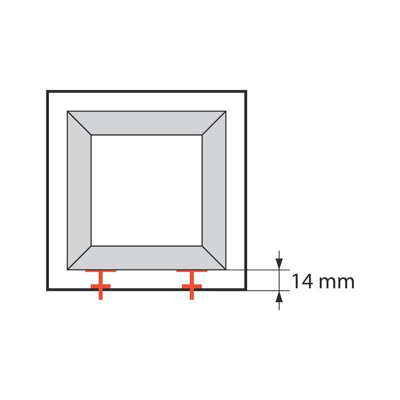 Fenstermontagekonsole mit Höhenverstellungsplatte JB-DK - 2