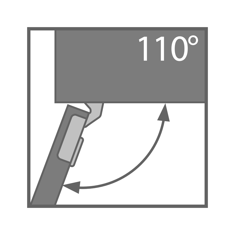 Concealed hinge, TIOMOS Impresso 110 - 2