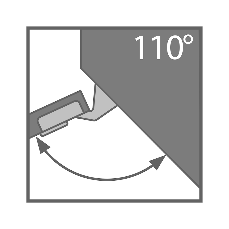 Concealed hinge, TIOMOS click-on 110/45 A - 4