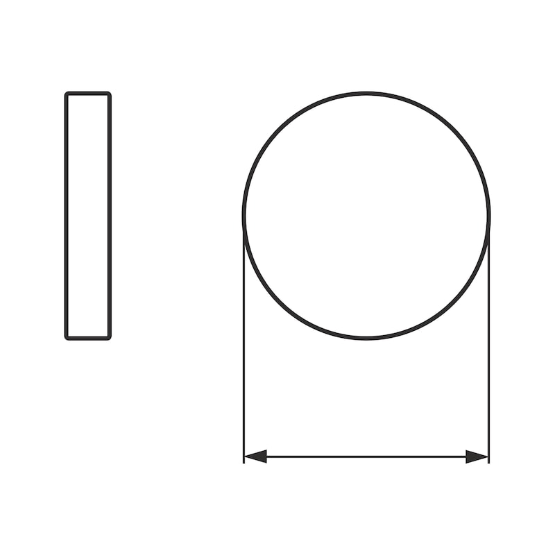 Round, stick-on furniture glider - 2