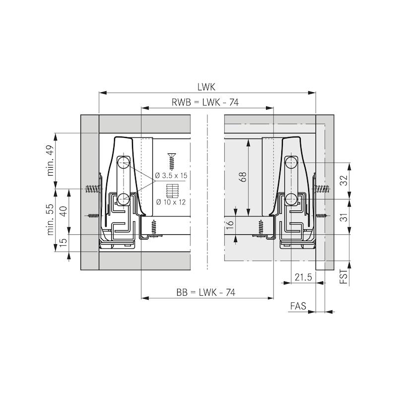 Frontbefestigung DWD XP - ZB-FRONTBEF-DWD-ZD-SCREWON-H95MM