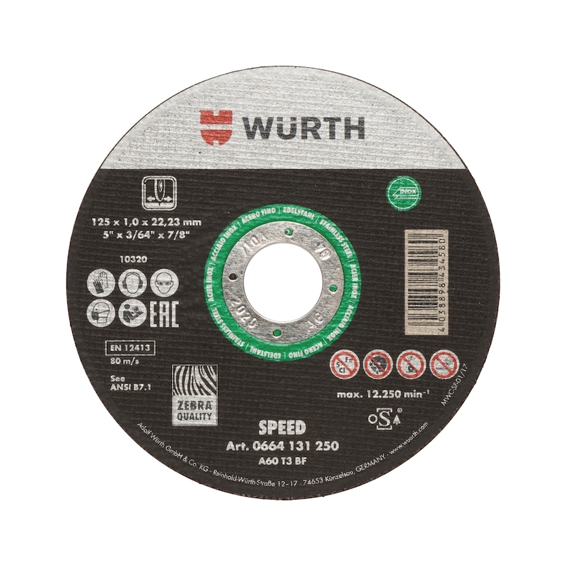 Cutting disc Speed plus for stainless steel - 1