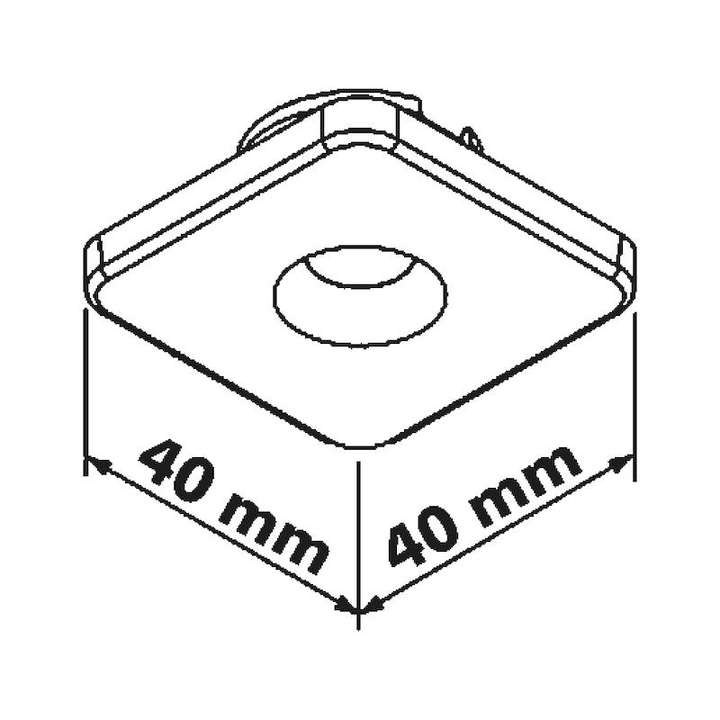 LED-Einbaulichtpunkt Point - LEUCHT-LED-POINT-QUADR-WEISS-LD1-WW