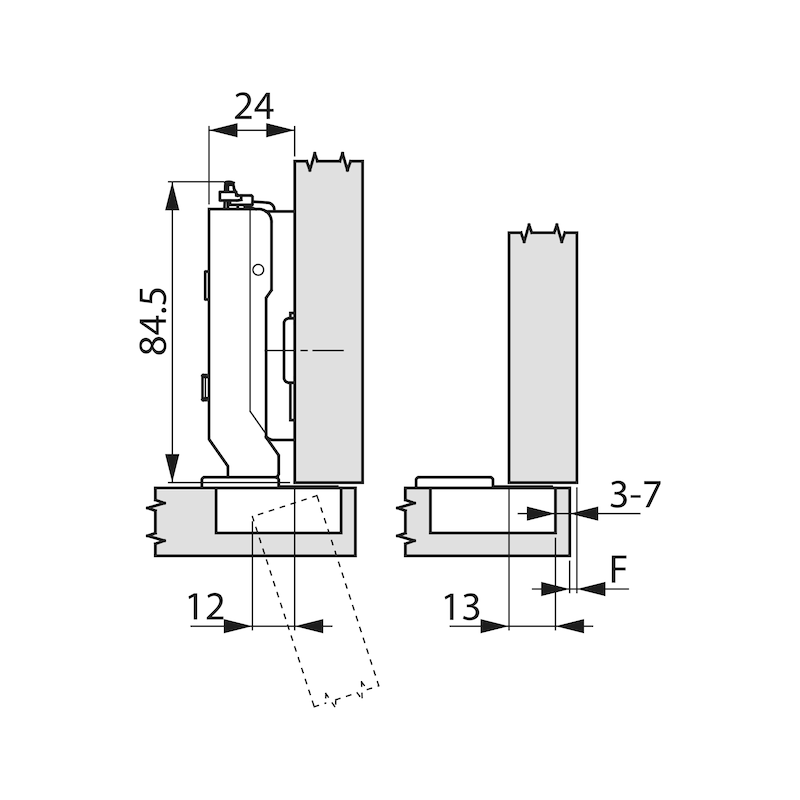 Topfscharnier TIOMOS Impresso 110 - SHAN-TT-IMPRESSO-110-GB-BB-K00