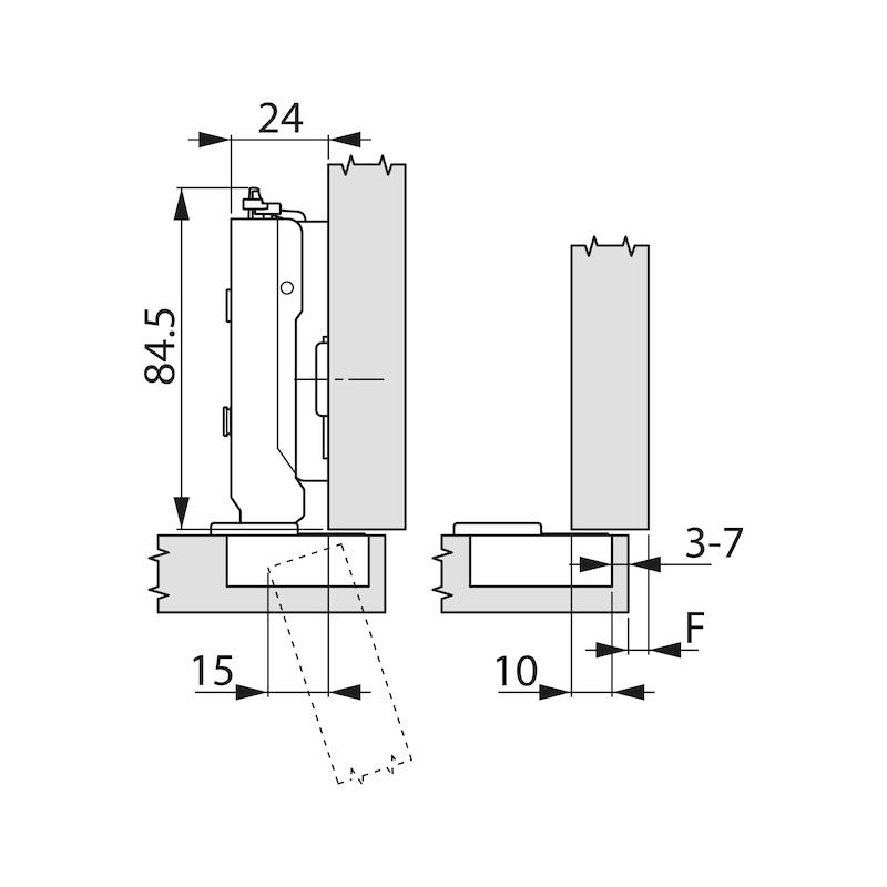 Topfscharnier TIOMOS Impresso 110 - SHAN-TT-IMPRESSO-110-HS-BB-K03