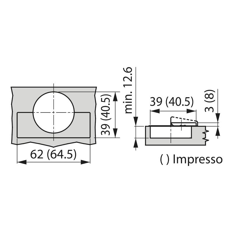 Topfscharnier TIOMOS Impresso 110 - SHAN-T-IMPRESSO-110-GB-BB-K19