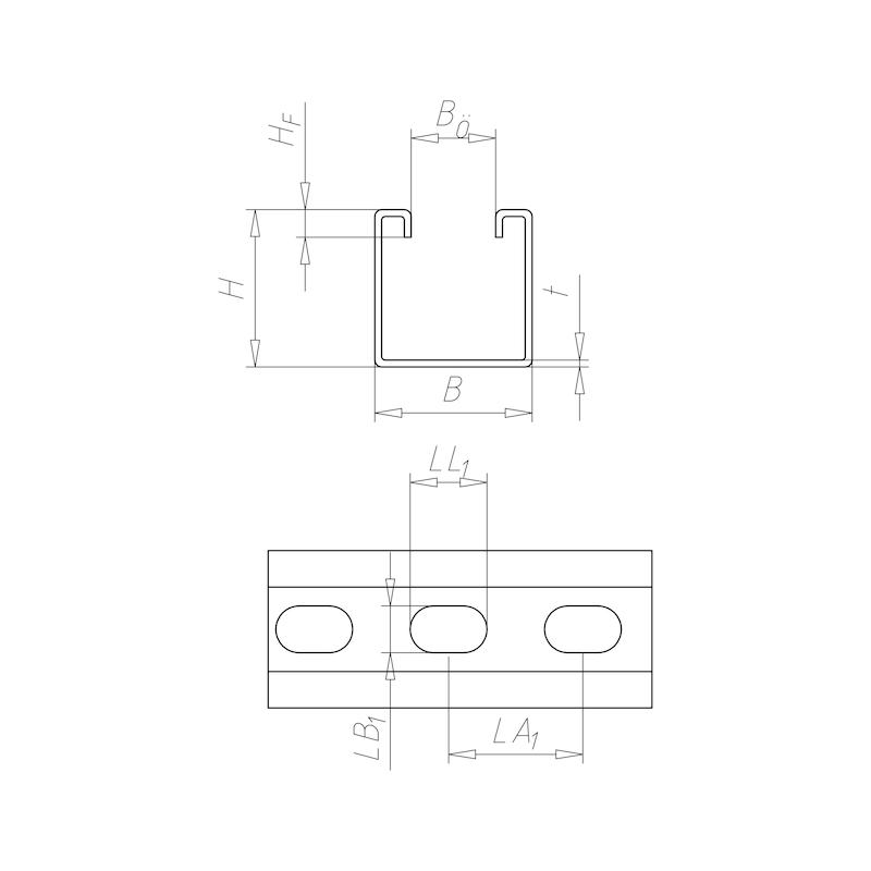 VARIFIX<SUP>® </SUP>C-Montageschiene 41/41 - C2C - 2