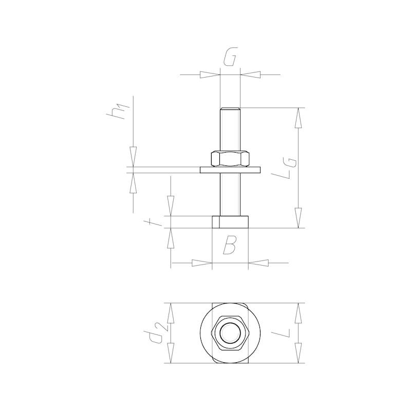 Boulon de rail prémonté Standardfix - C2C - 2