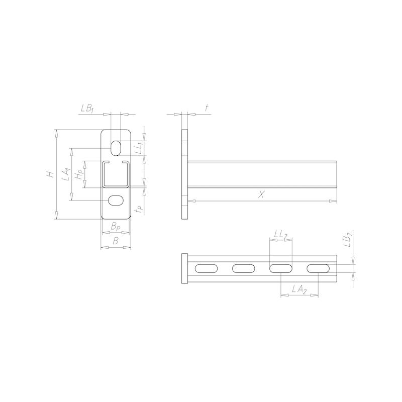 VARIFIX<SUP>® </SUP>bracket 36/36 — C2C - CNSL-36/36-TH2,5-400MM