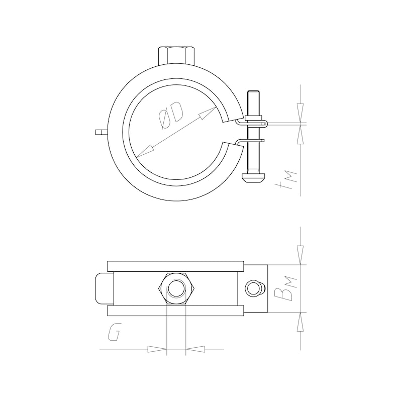 Rohrschelle TIPP<SUP>®</SUP>-Smartlock GS - 0