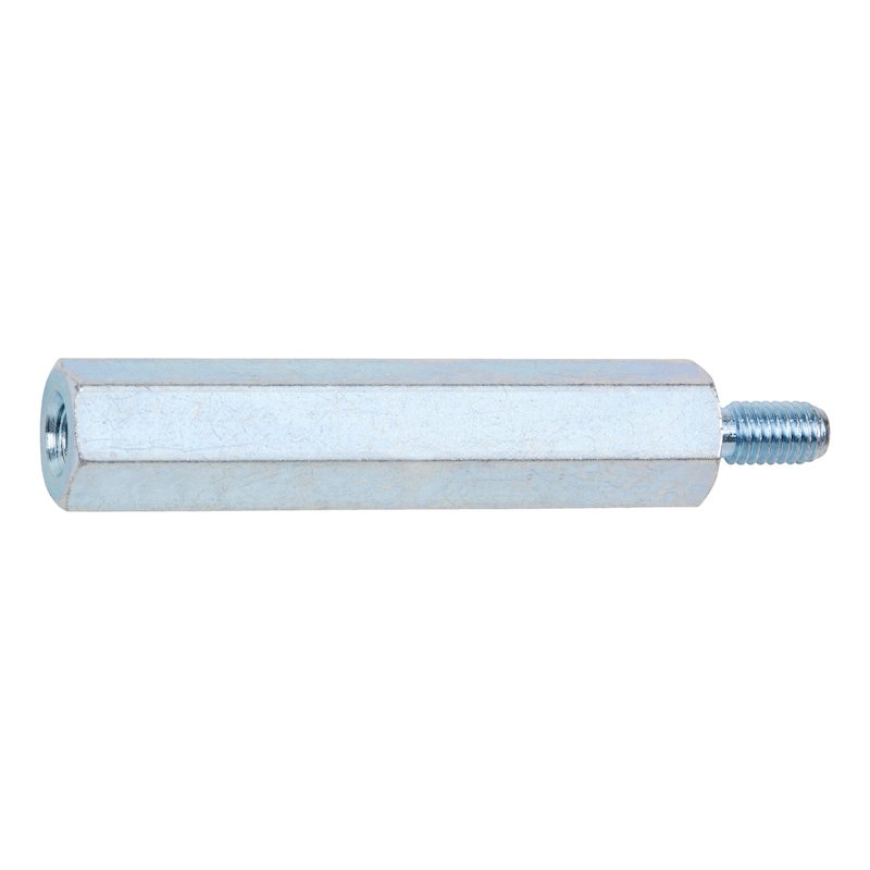 Abstandsbolzen Innen-/Außengewinde Stahl - 1