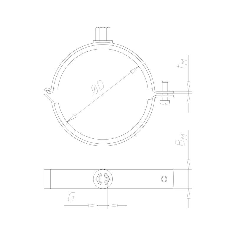 Ventilation pipe clamp Tipp<SUP>®</SUP> Aero — C2C - 2