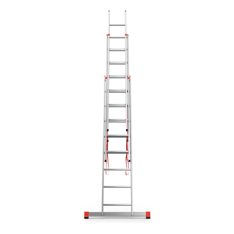Multipurpose aluminium ladder - MULTIPURPLDR-3PCS-ALU-3X8RUNGS