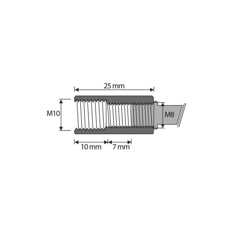 Nagelanker W-NA-M mit Stufengewinde M8/M10 - 2