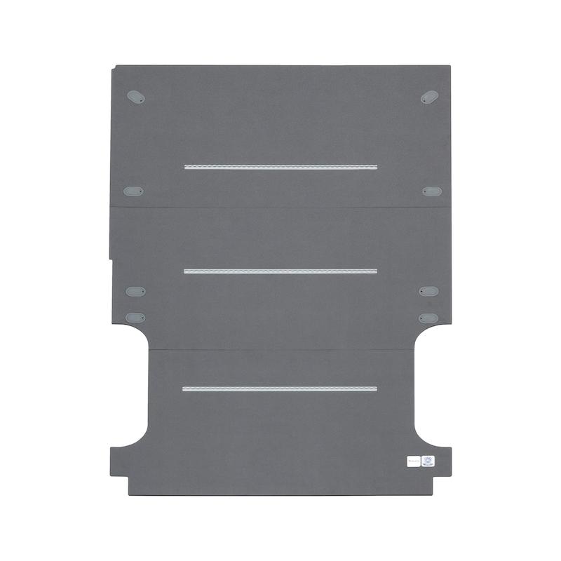 Bodenplatte mit integrierten Zurrschienen - 1