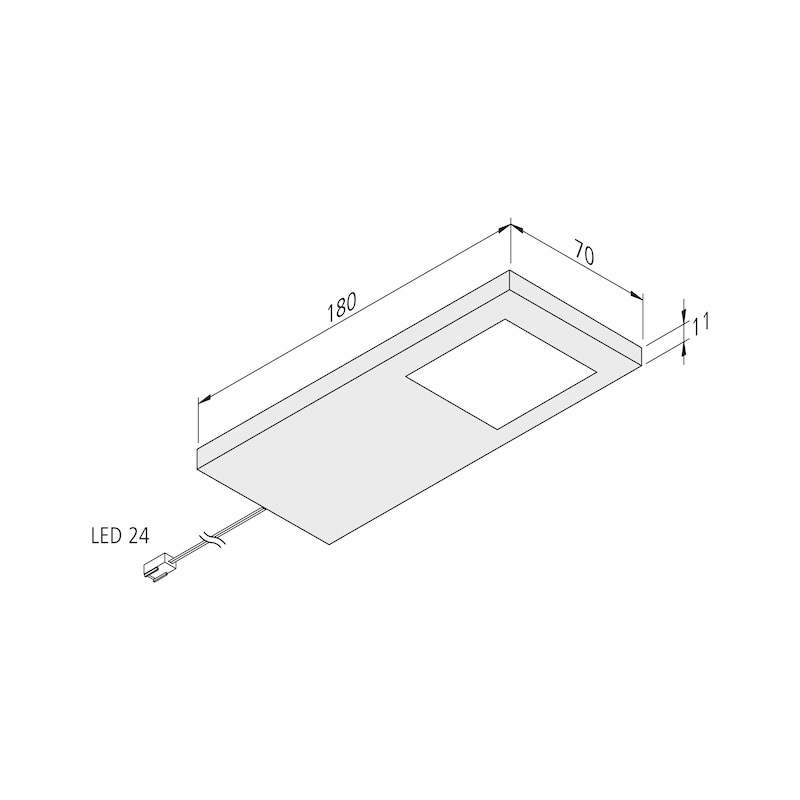 LED-Unterbauleuchte UBL-24-1 Set - 2