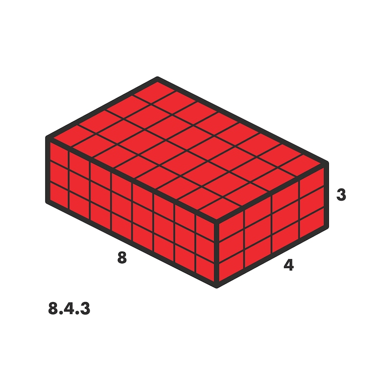 System-Koffer 8.4.3 Rasterschaum Leersortiment - 0