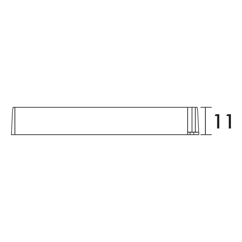 LED Sicherheitstransformator - TRAFO-LED-12V-12W-SCHWARZ-L127XB50XH11