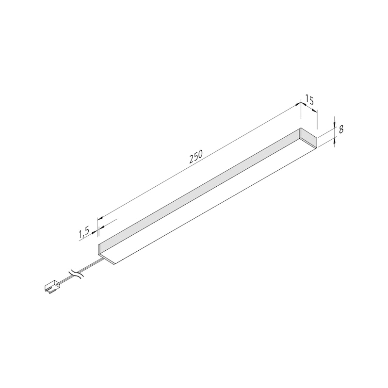 LED-Unterbauleuchte UBL-24-3 Set - 2