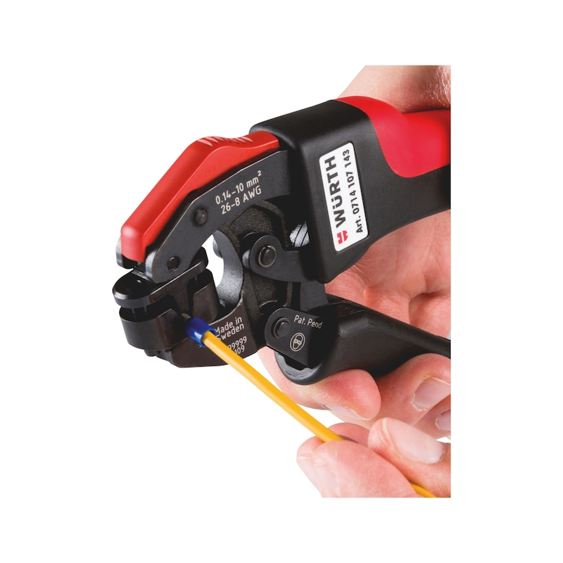 Crimping tool, compact, with 360° insertion - CRMPPLRS-WENDFER-(0,14-10SMM)-(10/T/360)