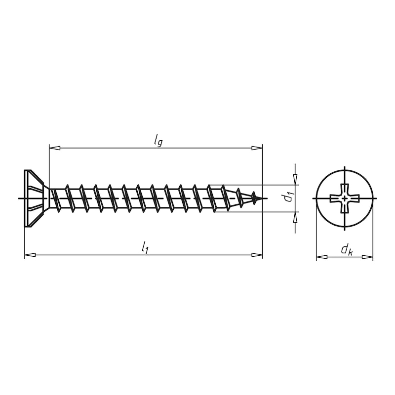 Cement board screw, collated - 2