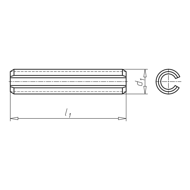 Spannstift/Spannhülse - Geschlitzt, schwere Ausführung - 2
