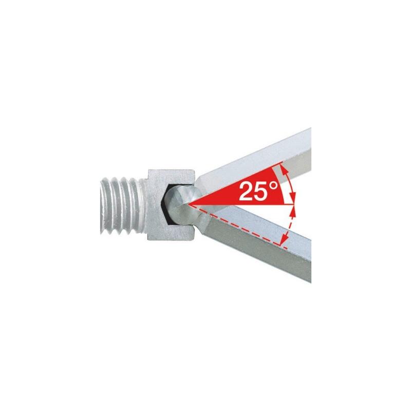Winkelschraubendreher Innensechskant mit Kugelkopf - 2