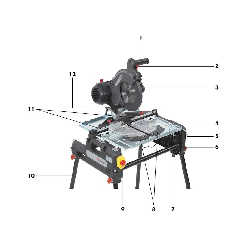 Kapp- und Tischkreissäge KTS 140 Combi - 6