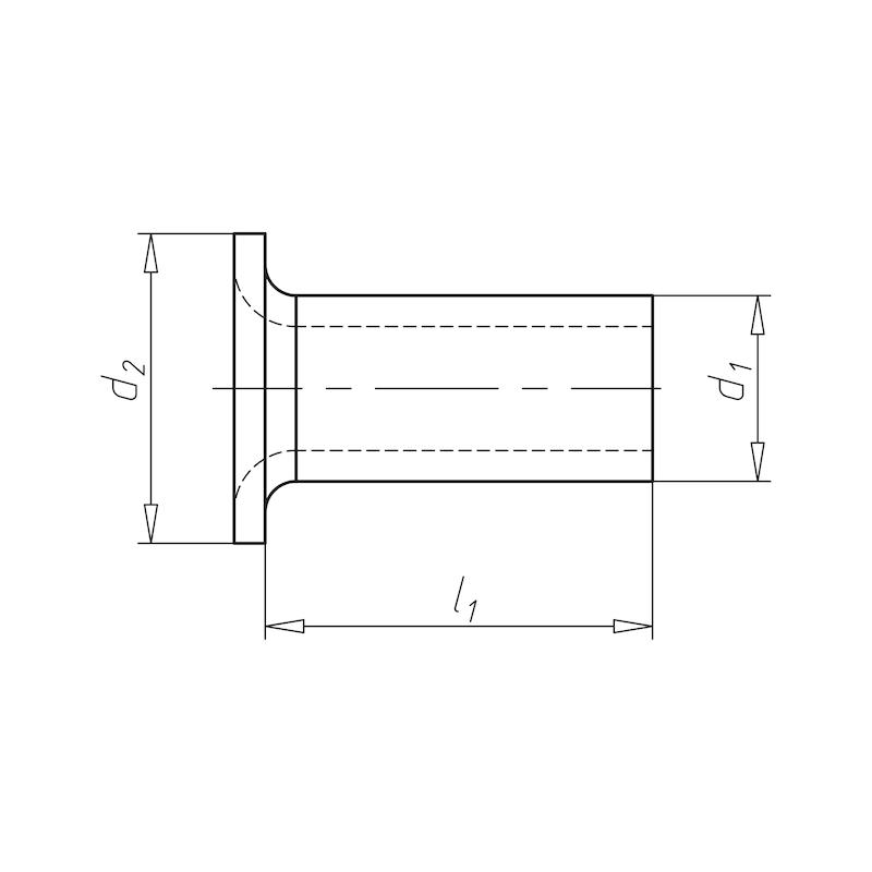 Rohrniet Form A - 2