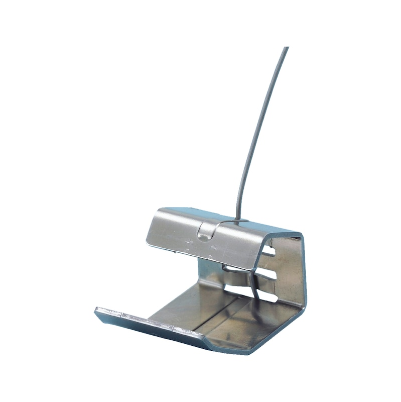 Valley/hip clip for head rebate roof tiles