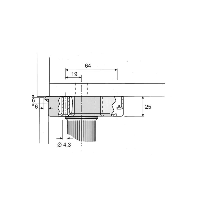 Sockelhöhenversteller Typ B - 0