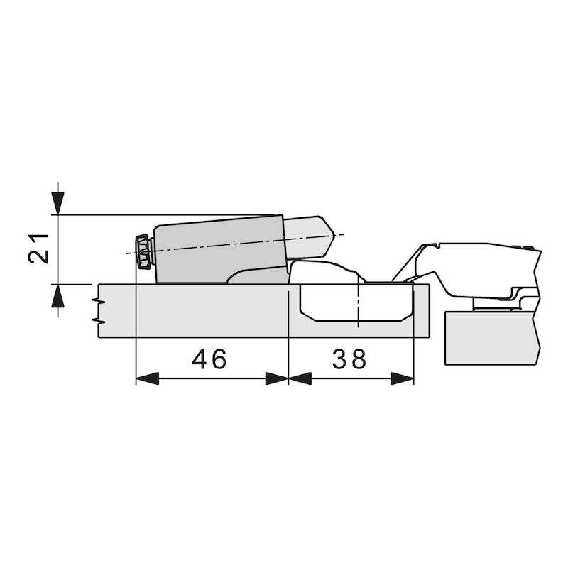 Türanschlagdämpfer Soft-close - ZB-PUFF-SHAN-NEXIMPR-SOFTCLOSE-100GRD