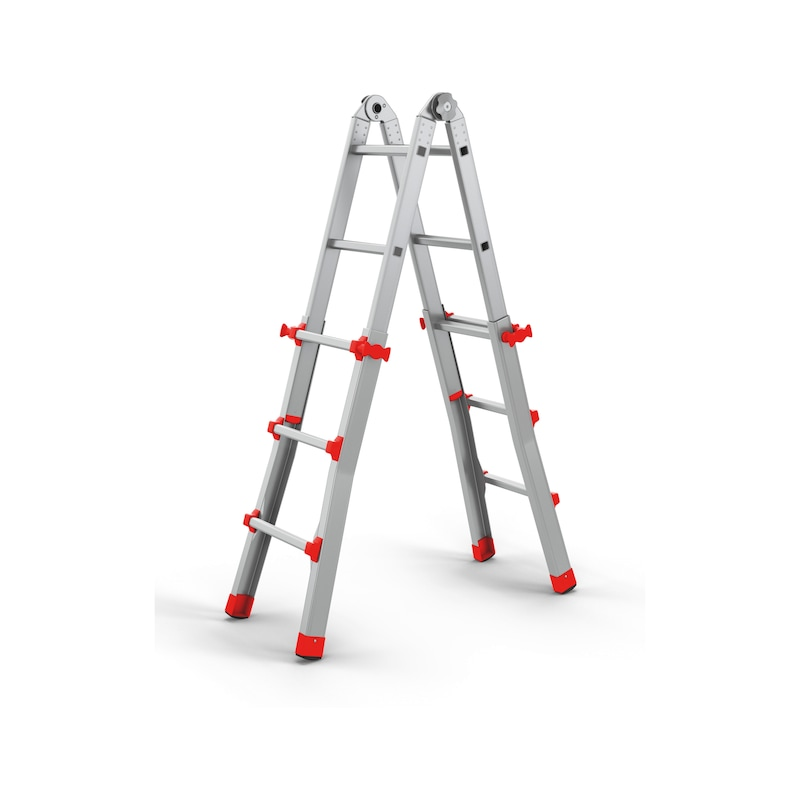 Professional aluminium telescopic ladder - TELELDR-PROFI-ALU-4X5RUNGS