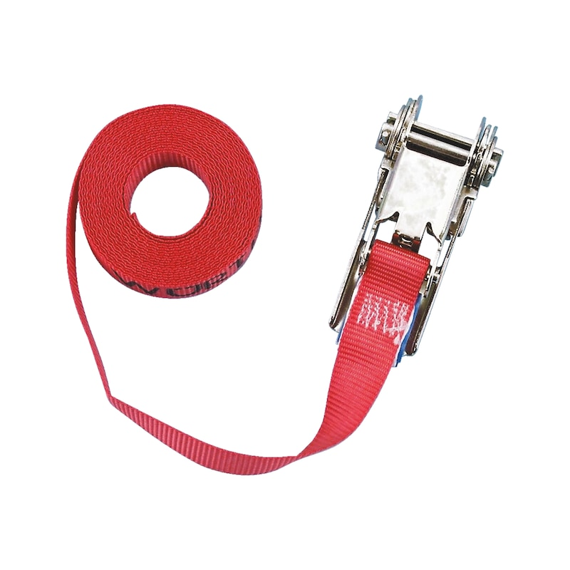 Ratchet lashing belt, one-part