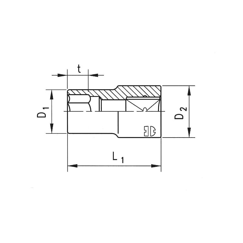 1/2 inch socket wrench insert - 2