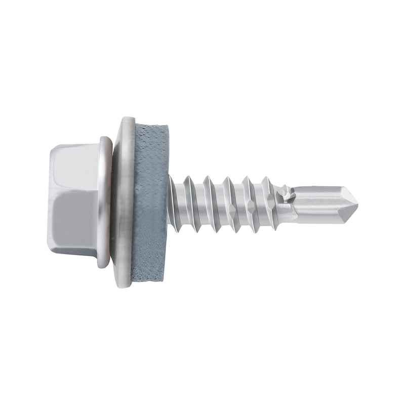 Self-drilling façade construction screw with hexagon head and sealing washer piasta<SUP>®</SUP> - 1