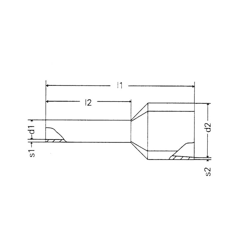 DUO-Aderendhülse mit Kunststoffhülse - 2