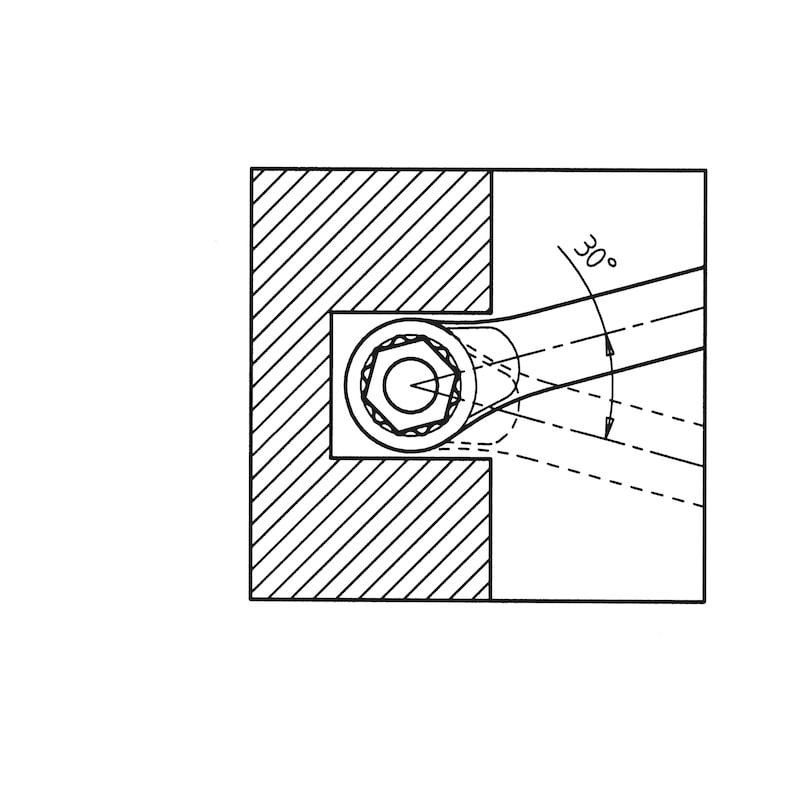 Ringmaulschlüssel kurze Form - 2
