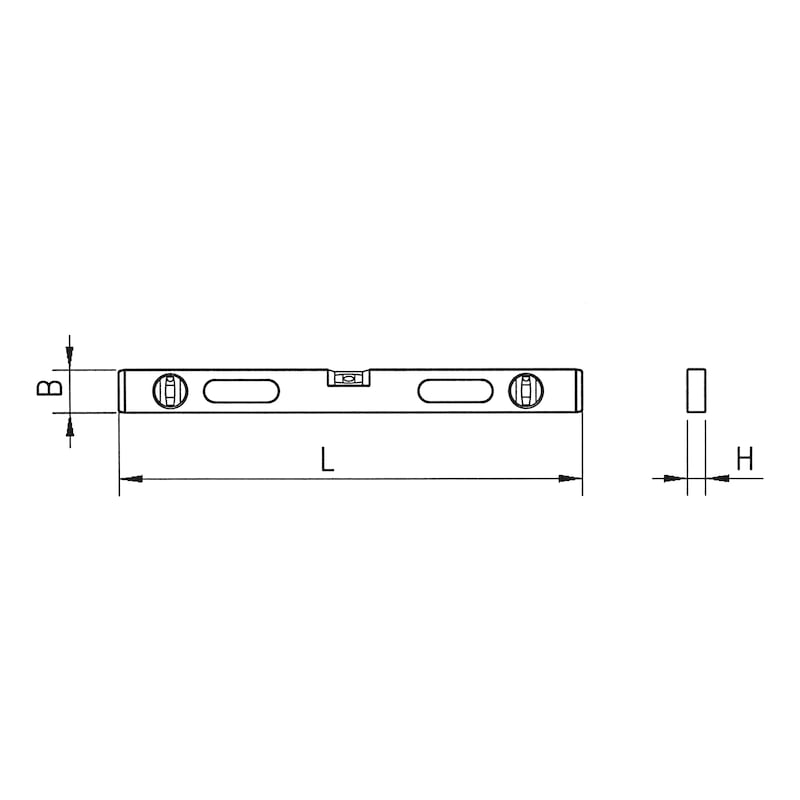 Spirit level - LEVL-LMET-L80CM-2HNDGRP