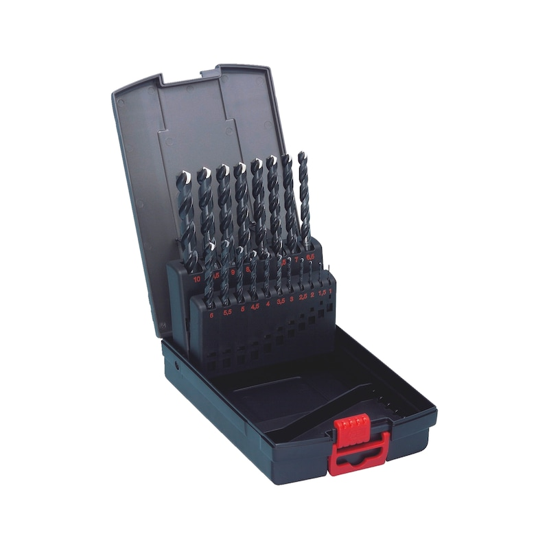 Spiralbohrer Sortiment HSS DIN 338 Typ RN 130° - BO-MET-SORT-DIN338-HSS-(D1-10)-0,5-19TLG