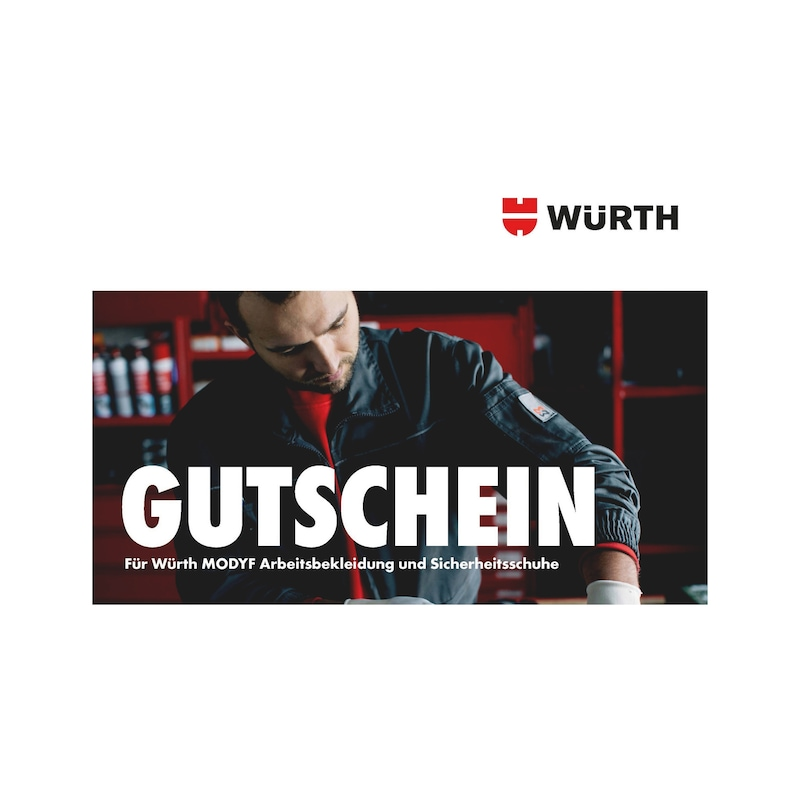Würth Modyf voucher for work clothing and safety shoes