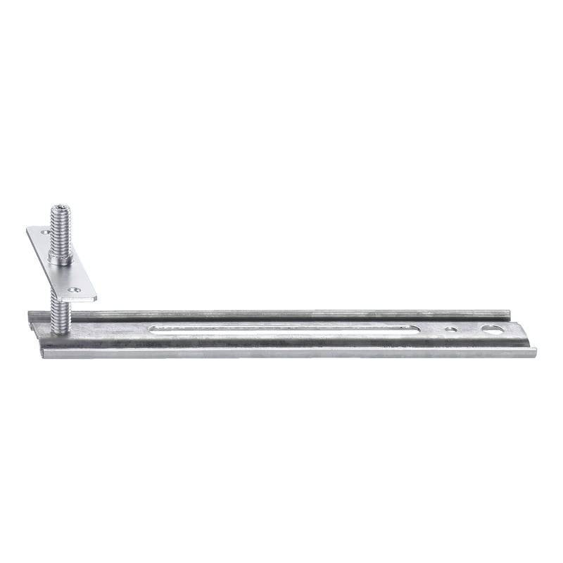 Window mounting rail with screw-on plate JB-D - 1