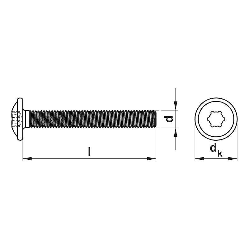 Furniture handle screw - 2