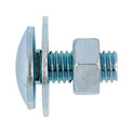 Round head screw with square neck and nut