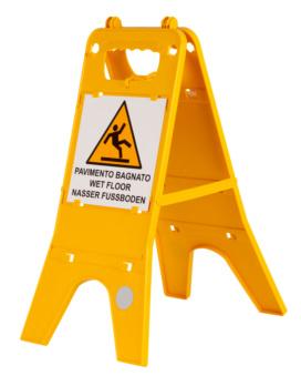 segnale di sicurezza per pavimento bagnato cartello attenzione pavimento bagnat