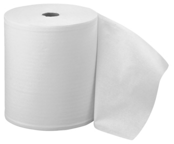 Bobine d'essuyage pure ouate blanche