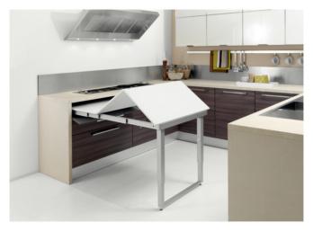 Tavolo estraibile ribaltabile 0684080296 for Cucina con tavolo estraibile