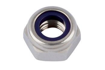 Hexagon nut, low profile, with clamping piece (non-metal insert)